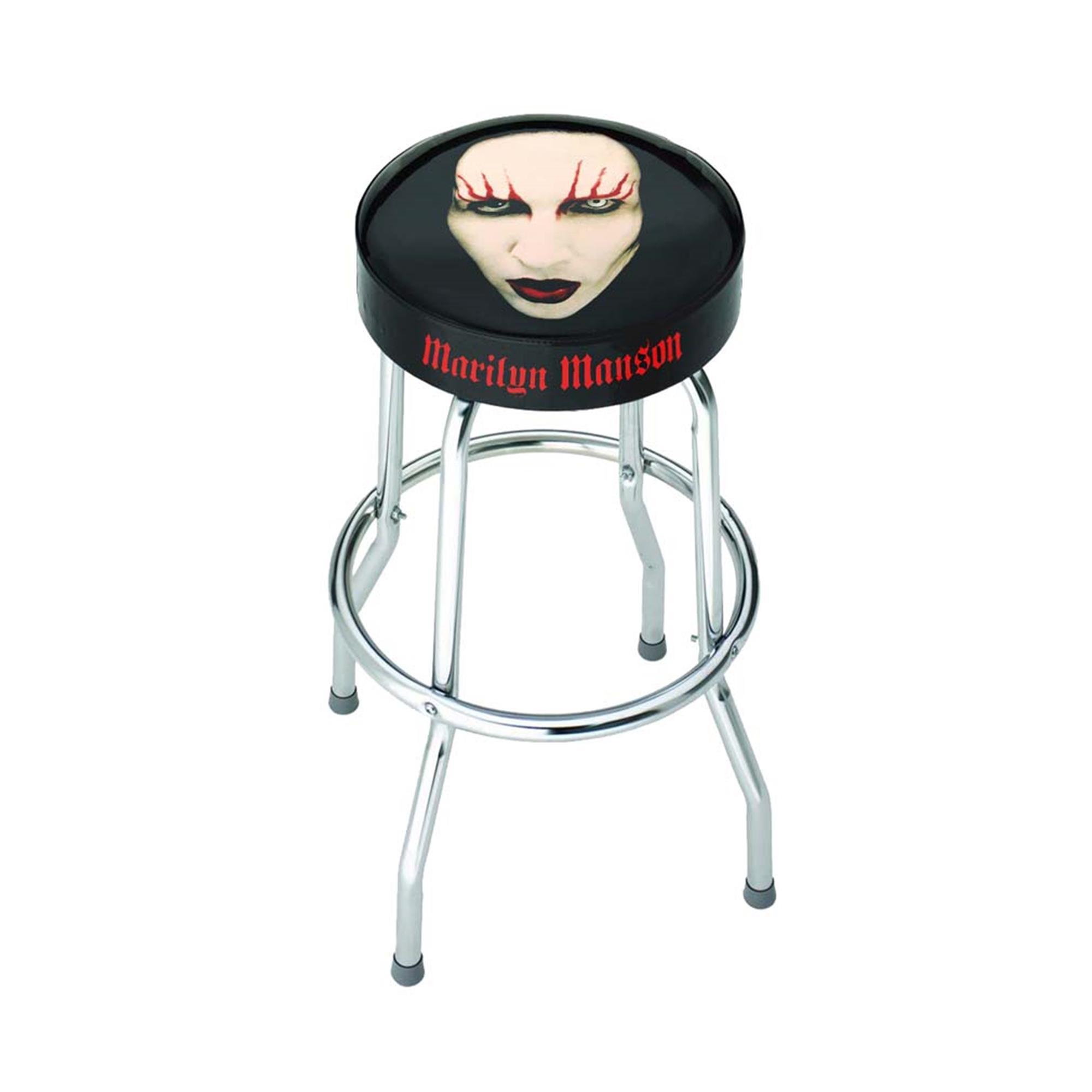 Marilyn Manson Red Lips Bar Stool