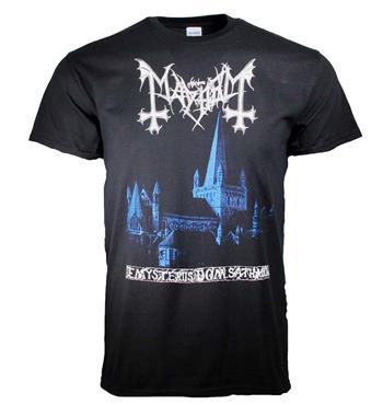 Mayhem Mayhem De Mysteriis Dom Sathanas Blue Print T-Shirt
