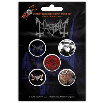 Mayhem De Mysteriis Dom Sathanas Button Pin Set
