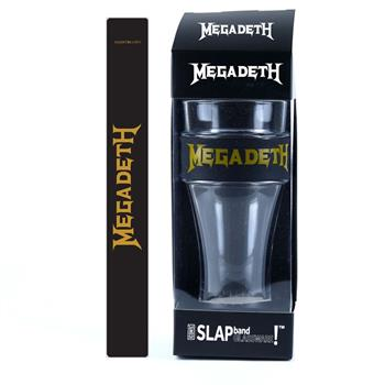 Megadeth Megadeth Gold Logo Heavy Duty Slap Band Pint Glass