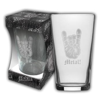 Buy Metal! Beer Glass by Generic