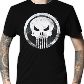 Punisher (the) Metal Badge T-Shirt
