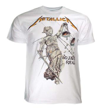 Buy Metallica And Justice for All White T-Shirt by Metallica