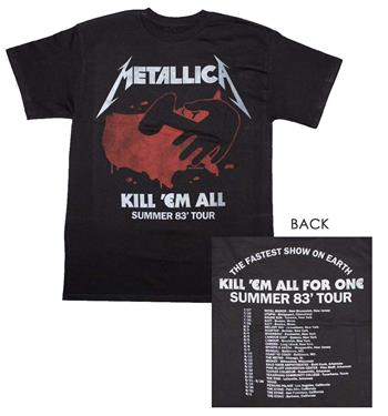 Buy Metallica Kill 'Em All Tour T-Shirt by Metallica