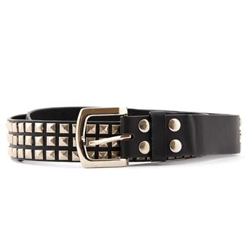LEATHER BELT Mini Pyramid 3 Rows - 12.5