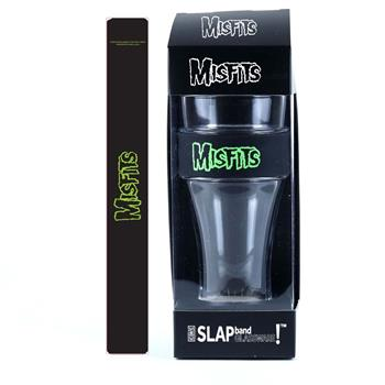 Buy Misfits Green Logo Heavy Duty Slap Band Pint Glass by Misfits