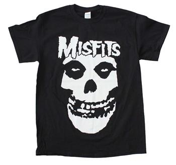 Buy Misfits White Skull Big Print T-Shirt by Misfits