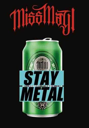 Miss May I Stay Metal Flag