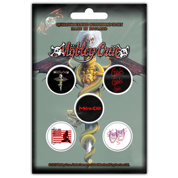 Buy Dr Feelgood (Button Pin Set) by Motley Crue