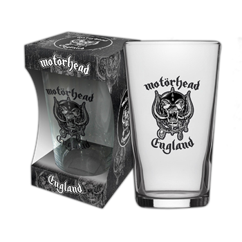 Motorhead England Beer Glass
