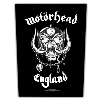 Motorhead England Backpatch