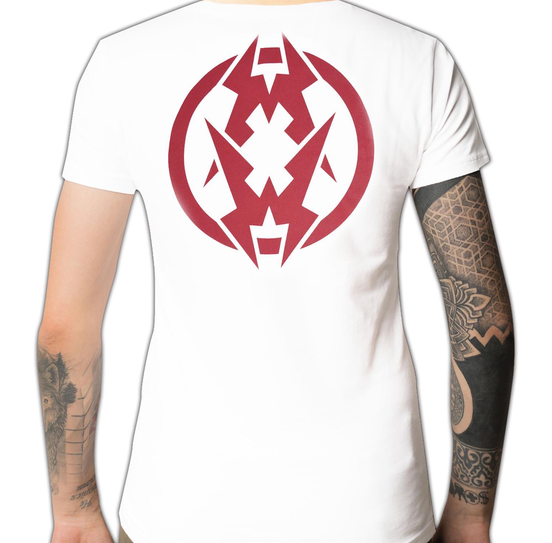 (White) Headbanger Face Rip T-Shirt