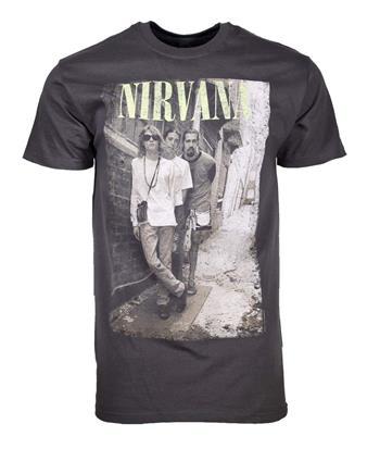 Nirvana Nirvana Brick Wall Alley Photo T-Shirt