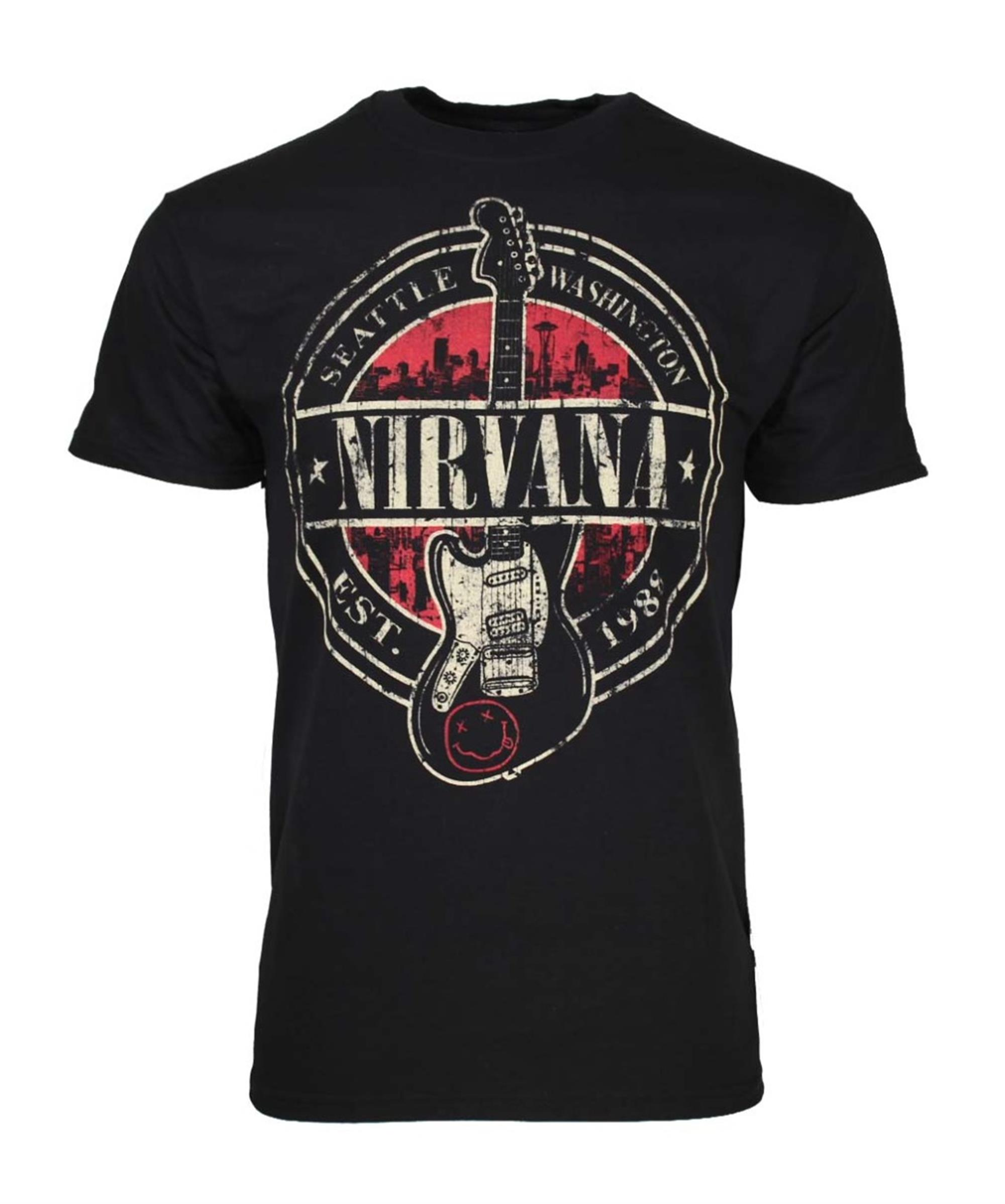 Nirvana Established 1988 Guitar Stamp T-Shirt