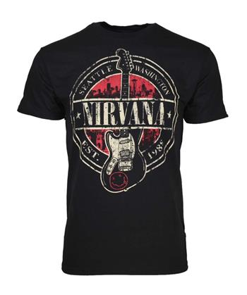 Buy Nirvana Established 1988 Guitar Stamp T-Shirt by Nirvana
