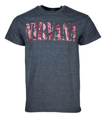 Buy Nirvana Floral Logo T-Shirt by Nirvana