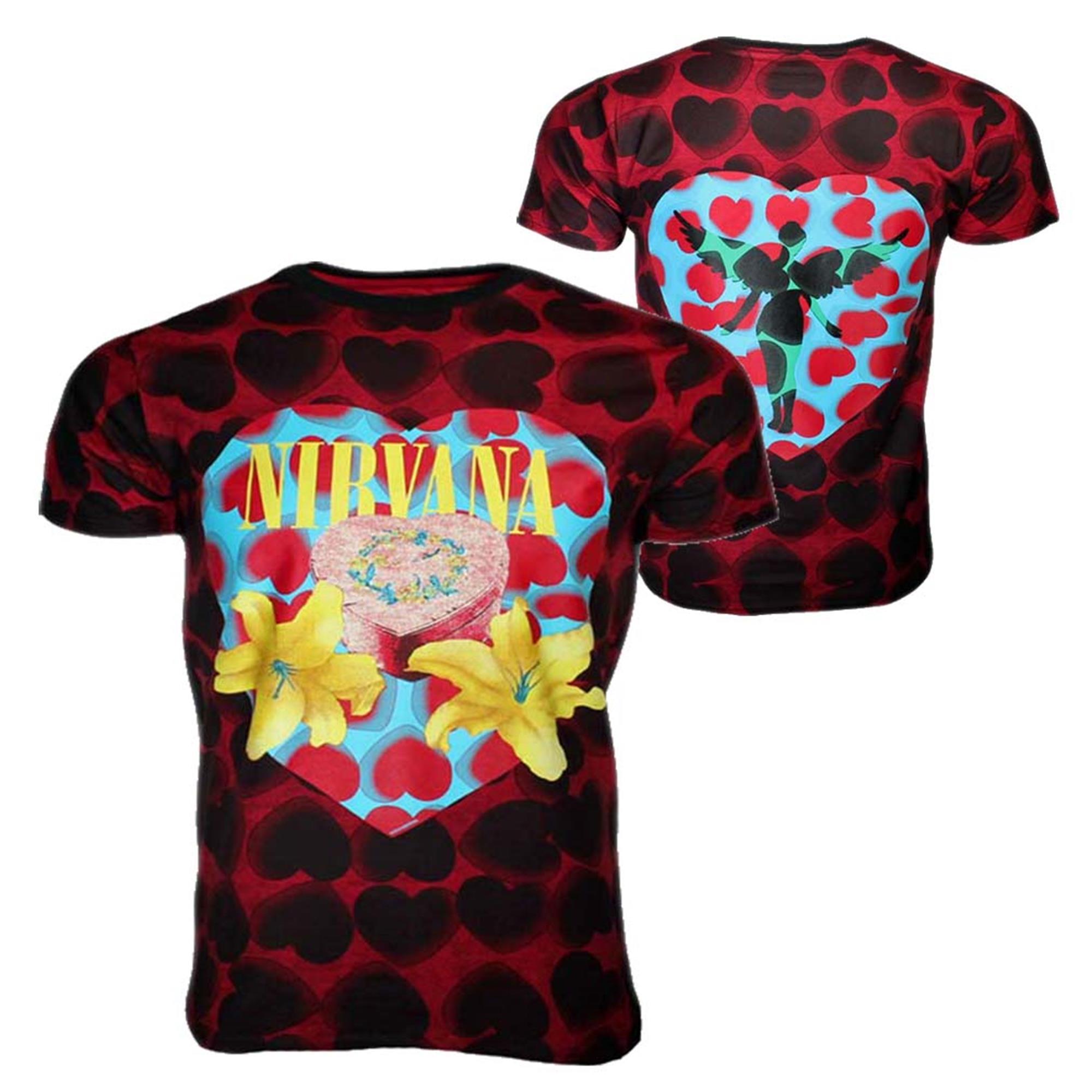 Nirvana Heart Shaped Box Men's Dye T-Shirt
