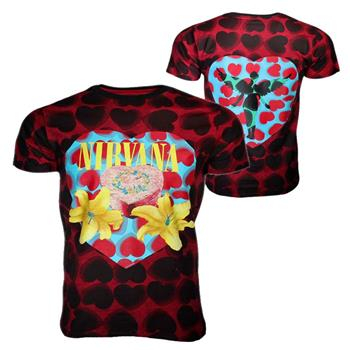 Buy Nirvana Heart Shaped Box Men's Dye T-Shirt by Nirvana