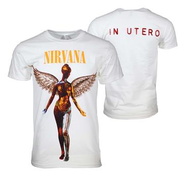Buy Nirvana In Utero White T-Shirt by Nirvana