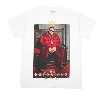 Notorious B.i.g. Notorious B.I.G. Biggie Crown Throne White T-Shirt