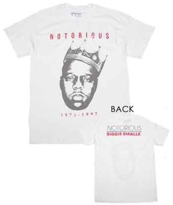 Buy Notorious B.I.G. Vintage Biggie Crown 72-97 T-Shirt by NOTORIOUS B.I.G.