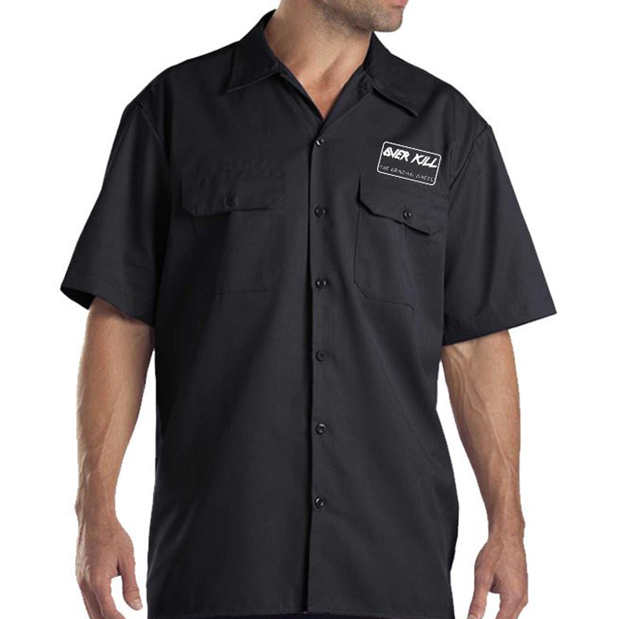 Embroidered Gear Logo Workshirt