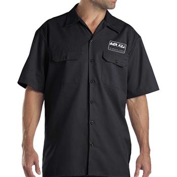 Buy Embroidered Gear Logo Workshirt by Overkill
