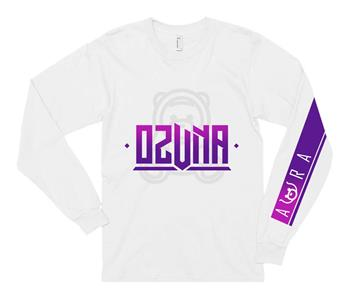 Buy Ozuna Aura Purple Logo Long Sleeve Tee by Ozuna