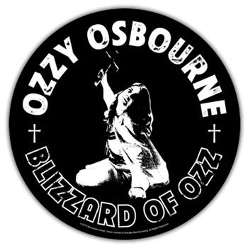 Buy Blizzard Of Ozz Round Patch by Ozzy Osbourne