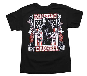 Buy Dimebag Darrell Guitars Flag T-Shirt by Pantera