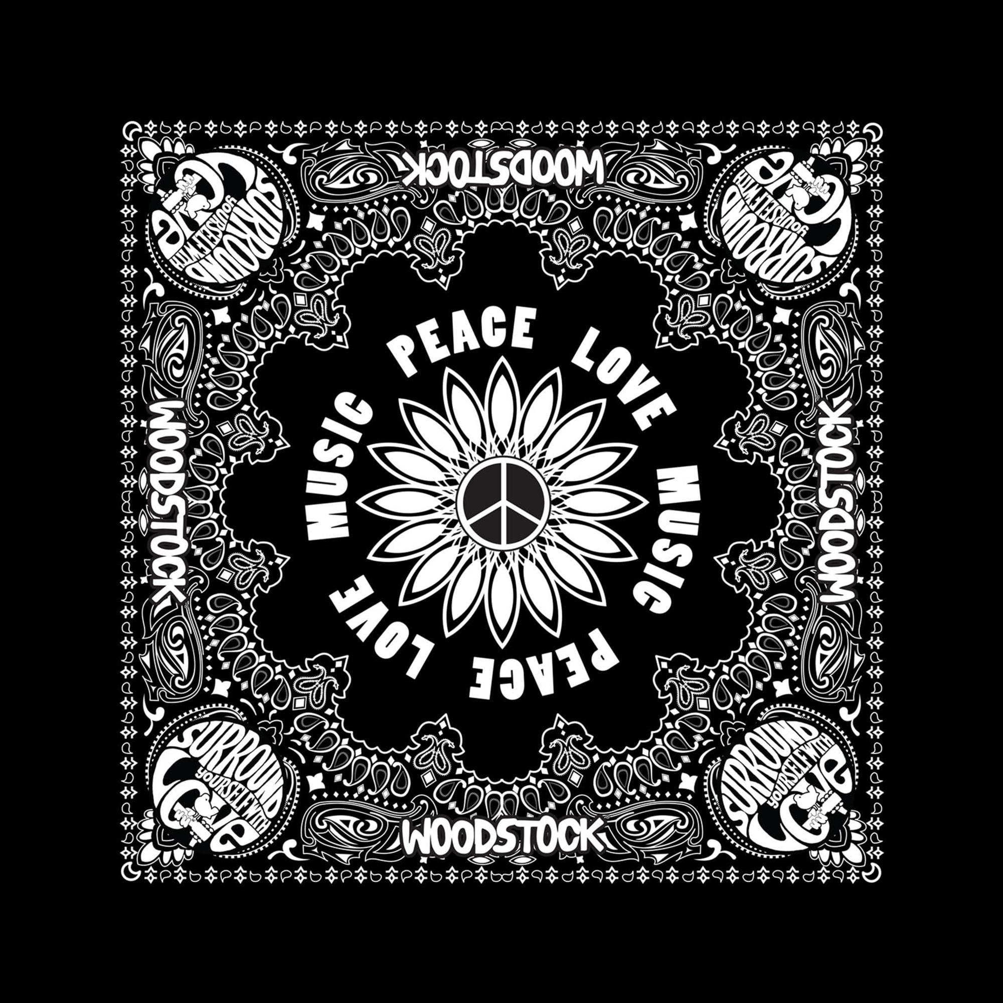 Peace Love Music Bandana