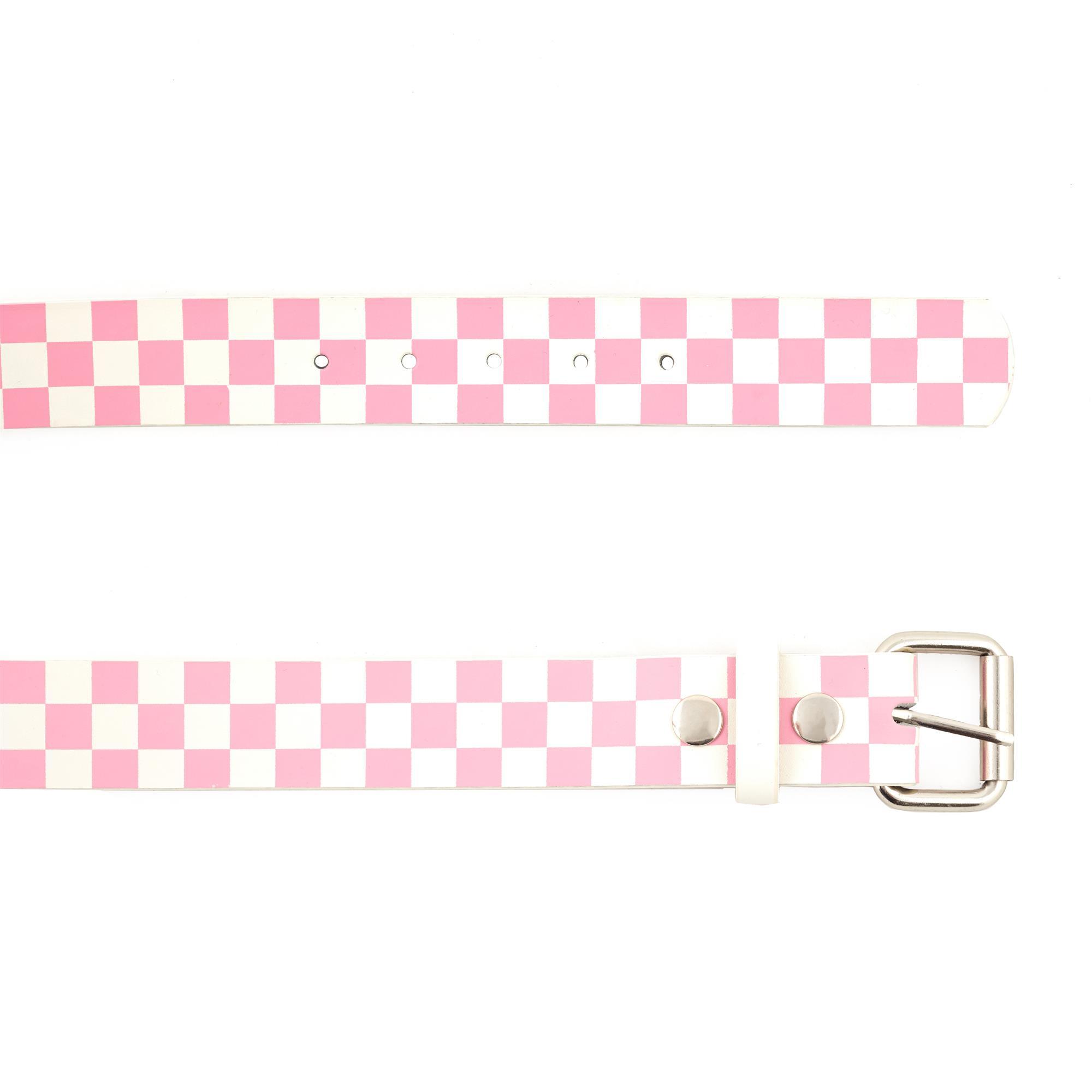 Pink & White Checker