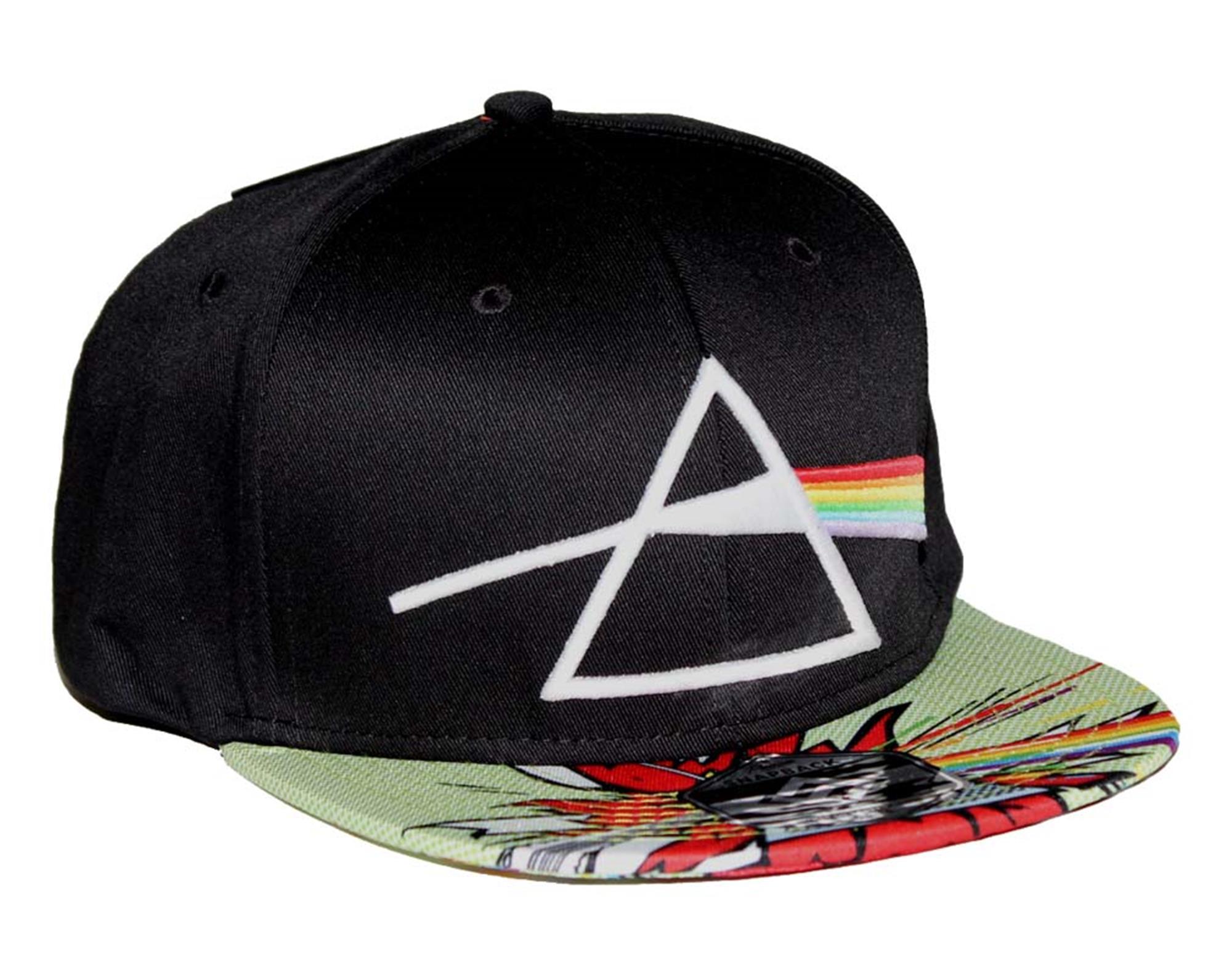 Pink Floyd Dark Side Comic Flat Bill Snapback Hat