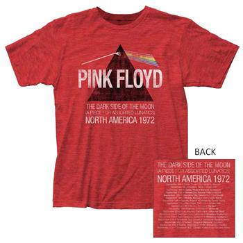 Buy Pink Floyd Dark Side Lunatics Exclusive Heather Red T-Shirt by PINK FLOYD
