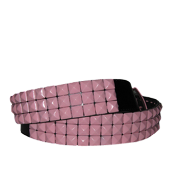 Buy Pink Pyramids Black by Leather Belt