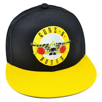 Buy Pistols & Roses Yellow Snapback by Guns 'n' Roses
