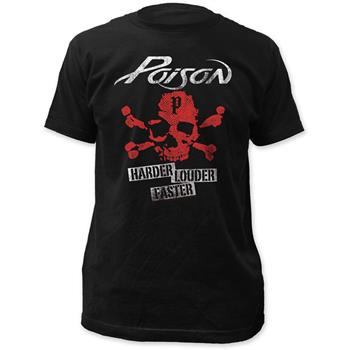 Buy Poison Harder Faster Louder T-Shirt by Poison