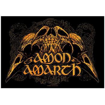 Amon Amarth RAVEN SKULLS FLAG
