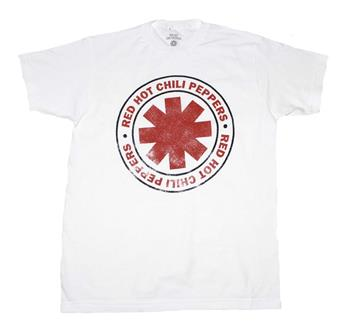 Buy Red Hot Chili Peppers Distressed Outline Logo T-Shirt by Red Hot Chili Peppers