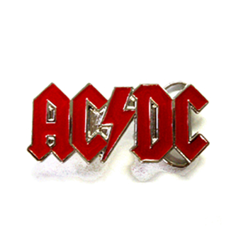 AC/DC Red Logo Buckle