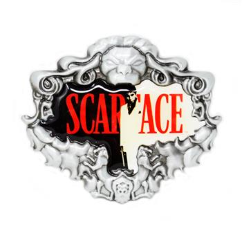 Scarface Red Logo Buckle
