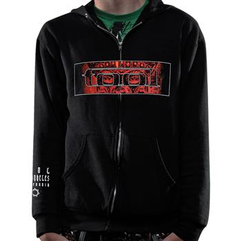 Buy Red Pattern Zip Hoodie by Tool