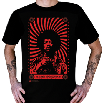 Buy Red Spiral T-Shirt by Jimi Hendrix