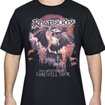 Buy 20TH Anniversary T-Shirt by Rhapsody