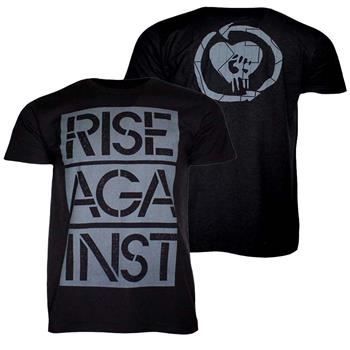 Rise Against Rise Against Stacked Stencil Ghost Notes T-Shirt