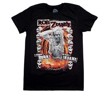 Buy Rob Zombie Born to Go Insane T-Shirt by Rob Zombie