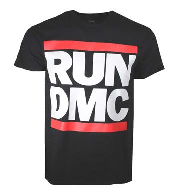 Run D.m.c. Run DMC Logo Black T-Shirt