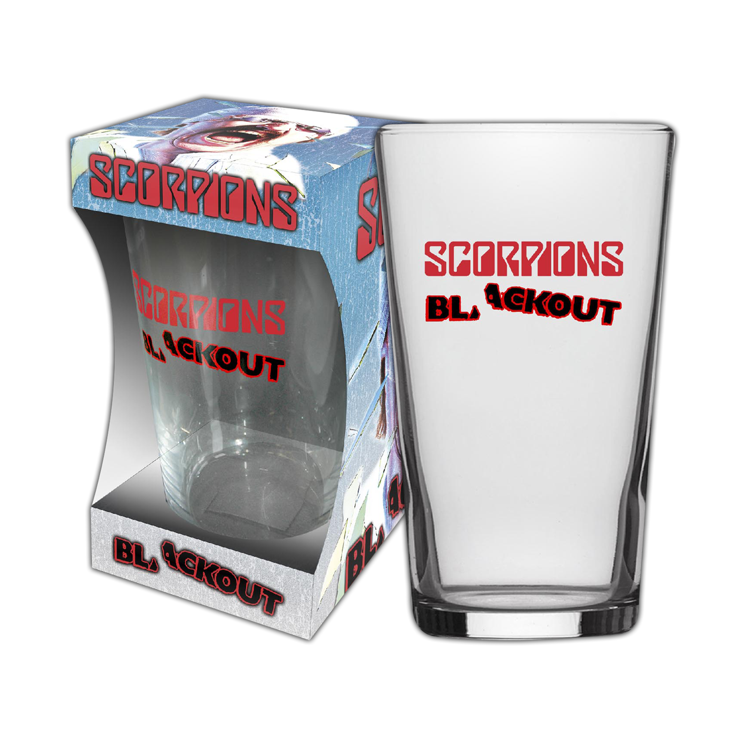 Blackout Beer Glass
