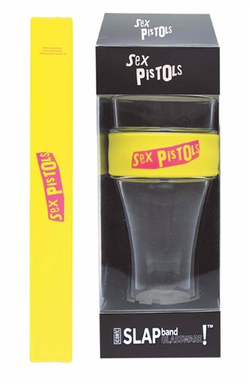 Sex Pistols Sex Pistols Pink Logo Heavy Duty Slap Band Pint Glass