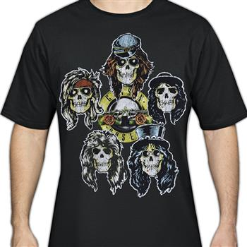 Buy Skull Heads T-Shirt by Guns 'n' Roses